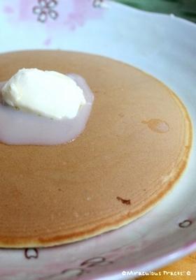 米粉でもちもちホットケーキ!