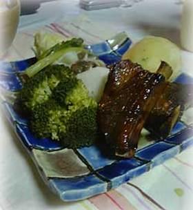 スペアリブと温野菜ランチ