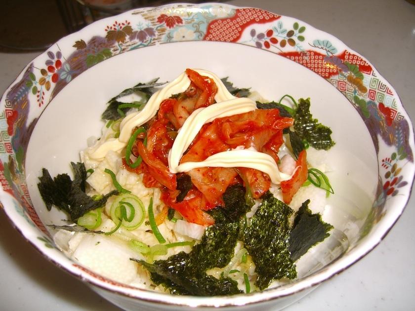 ひとり飯に~◆キムチとろろ丼◆