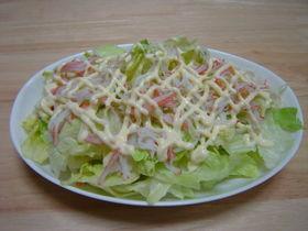 かにかまとレタスのサラダ