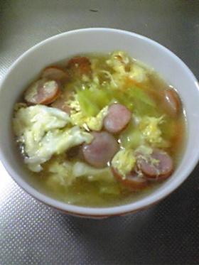 ふんわり卵とキャベツのコンソメスープ♪
