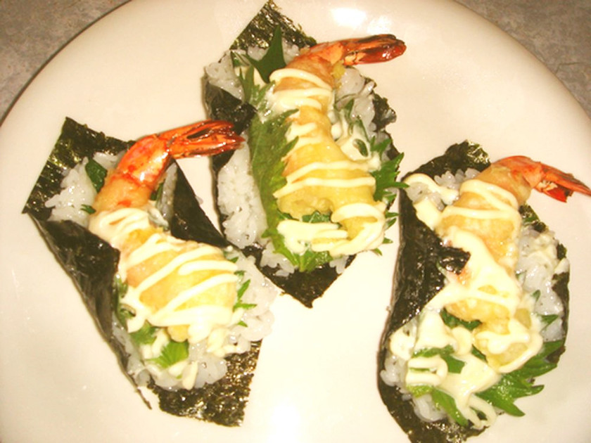 ☆えび天、大葉で手巻き寿司☆