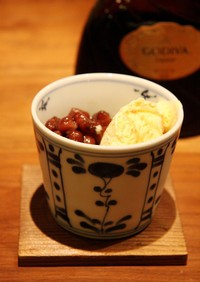 バニラアイス☆あずき添えゴディバ風味