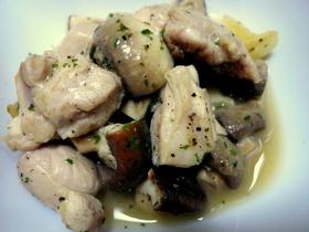 スペイン料理★鶏ときのこのにんにく風味