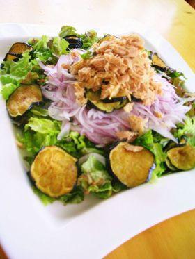 絶品◆揚げなすのピリ辛ポン酢サラダ