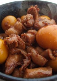 オフクロの味、鶏モツ/キンカン付の煮付け