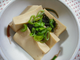 甘めで美味しい「高野豆腐の煮物」