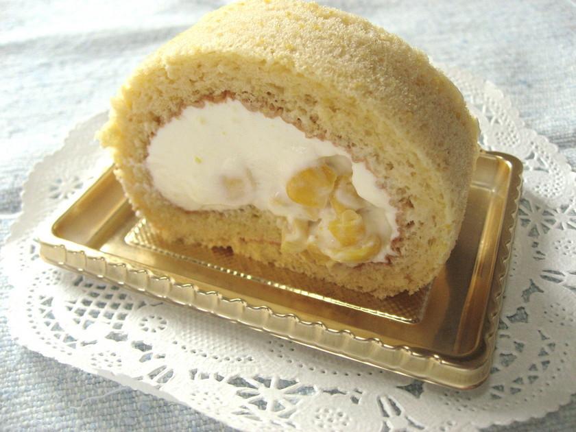 とうもろこしのロールケーキ