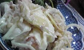 りんごとポテトチップスのサラダ