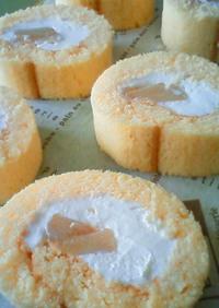 米粉のアップルシナモンロールケーキ