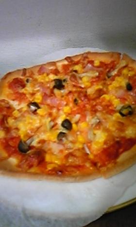 ピザミックスで簡単ピザ