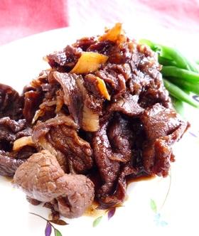 簡単!美味しい♡牛肉の生姜黒糖ワイン煮✿
