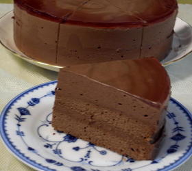 濃厚&ふんわり☆二層式チョコムースケーキ