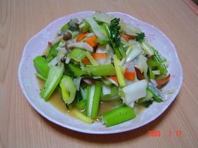 かほく菜の中華炒め