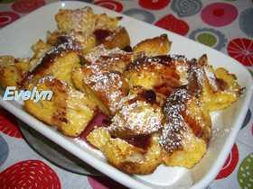フレンチトーストフルーツソース焼き