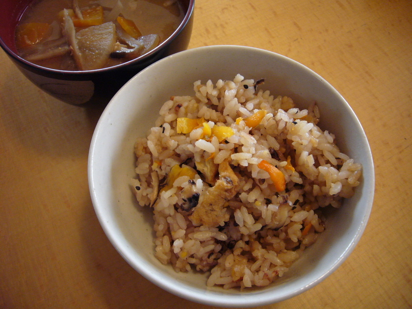 簡単★雑穀米の炊込みご飯