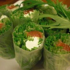 簡単♪水菜が主役の生春巻き