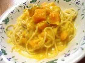 かぼちゃクリームスパゲッティ