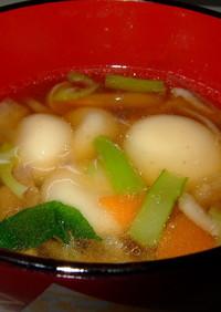 豆腐白玉団子汁(給食風)七草アレンジ可!