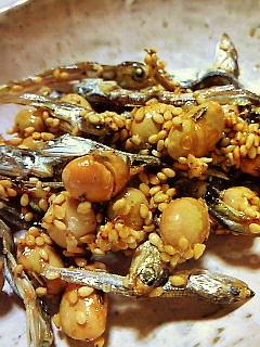 節分の煎り大豆と小魚のカリカリお菓子