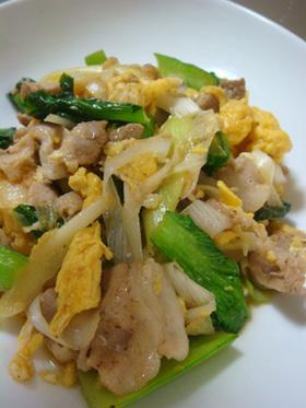 豚バラ★小松菜★卵のふんわり炒め
