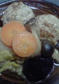 白菜とろとろ~きのこたっぷり~肉団子鍋♪