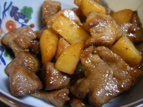 豚肉とじゃがいもの醤油マヨ炒め