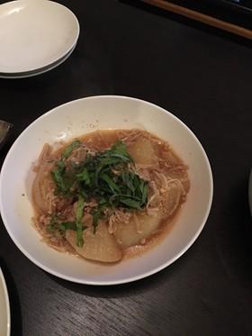 大根と明太子の炒め煮
