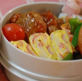 お弁当❤カニカマ入り卵焼き