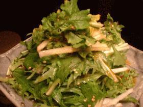 水菜と大根のサラダ。