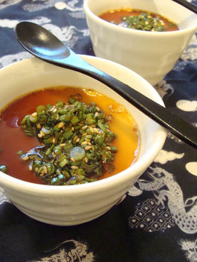 中華風茶碗蒸し ~ねぎソースがけ