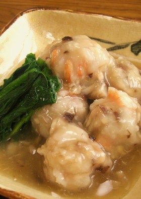 海老と椎茸の里芋まんじゅう