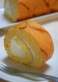 矢羽根模様のロールケーキ