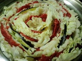白菜としゃぶしゃぶ肉のミルフィーユ鍋