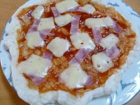 ★ぱりっ、もちっ★おもちのピザ