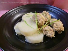 長芋と鶏つみれの煮物