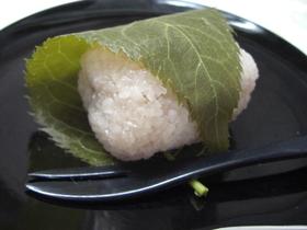 レンジで桜餅