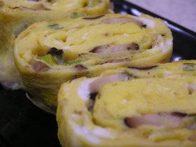 椎茸の風味が最高☆卵焼き~☆