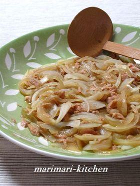 レンジで簡単!玉ねぎとツナのめんつゆ煮
