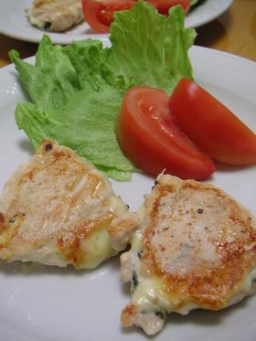 鶏ささみのしそ&チーズはさみ焼き