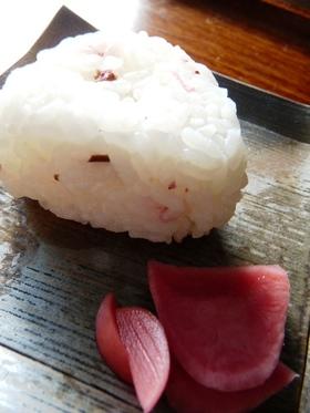 桜の塩むすび