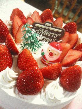 サンタがうちにやってくる☆クリスマスケーキ☆