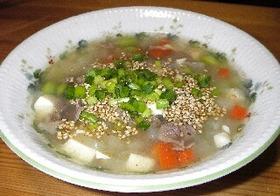 牛肉と豆腐のピリ辛とろみスープ