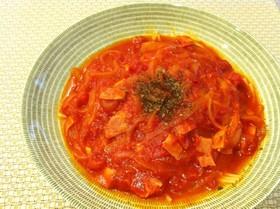 簡単♪あったかトマトスープパスタ☆