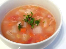 たっぷり野菜のトマトクリームスープ