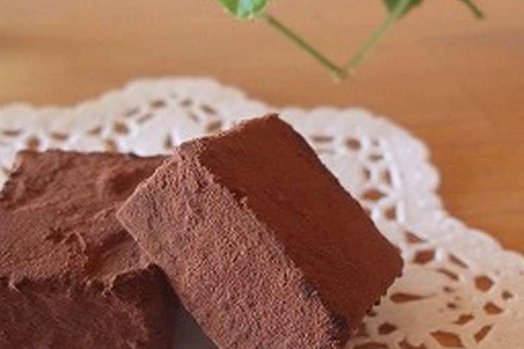 生 チョコ の 作り方