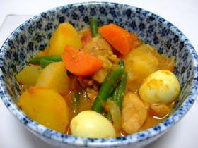 野菜と鶏肉のインド煮(給食風?)