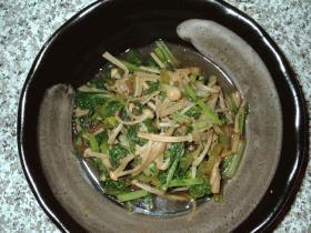 3分でもう1品☆小松菜とえのきのおかか煮