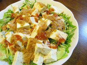 豆腐となめ茸のトスドサラダ