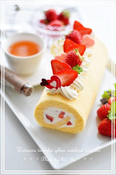 ふわふわしっと~りロールケーキ